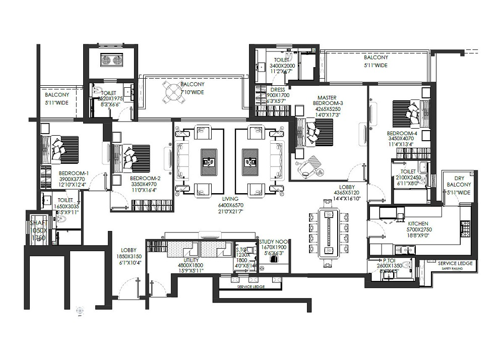 dlf the crest apartments floor plan gurgaon