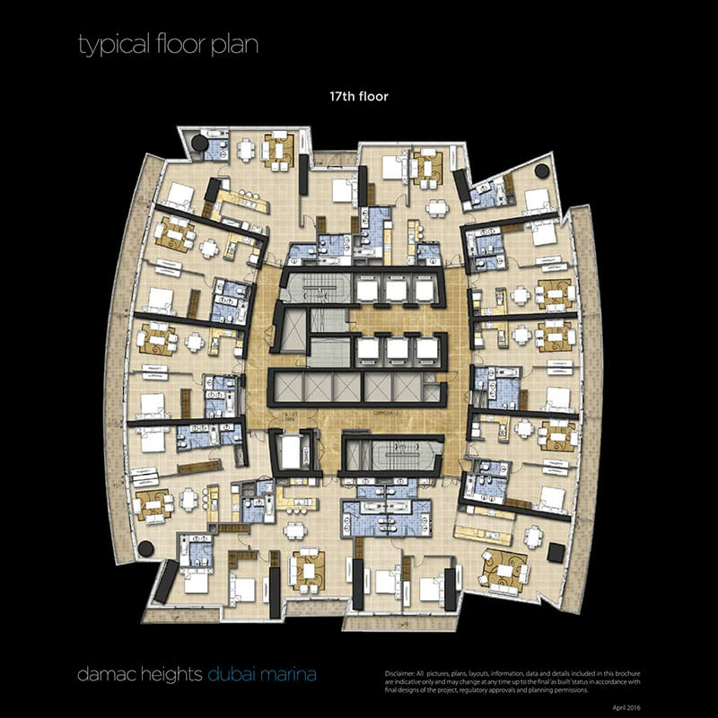 damac heights apartments price dubai marina dubai uae